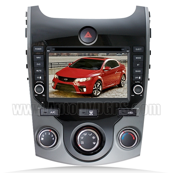 Car DVD Player with GPS navigation and 7 Inch Digital HD touchscreen and Bluetooth for 2009-2012 Kia Cerato /Forte Koup 5-door
