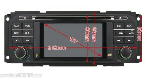 front panel size information of this car DVD player