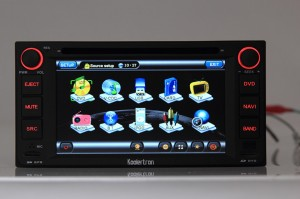 The Main Menu Interface Of This Car DVD Player