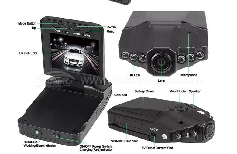 CE66SVD210: Cheap 720P Car Dash Camera With 2.5 Inch TFT LCD ...
